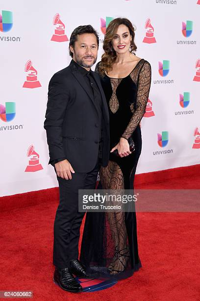 Musician Diego Torres and model Debora Bello attend The 17th Annual Latin Grammy Awards at TMobile Arena on November 17 2016 in Las Vegas Nevada