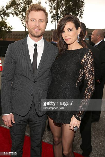 Musician Dierks Bentley and Cassidy Black attend the 55th Annual GRAMMY Awards at STAPLES Center on February 10 2013 in Los Angeles California