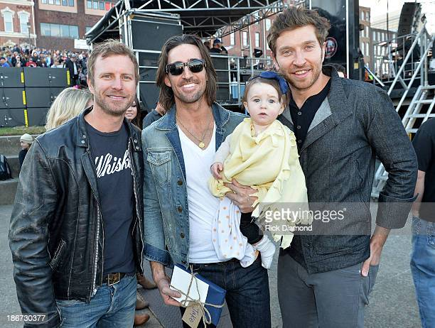 Musician Dierks Bentley Musician Jake Owen his daughter Pearl and Musician Brett Eldredge attend Dierks Bentley's 8th annual Miles Music for Kids at...