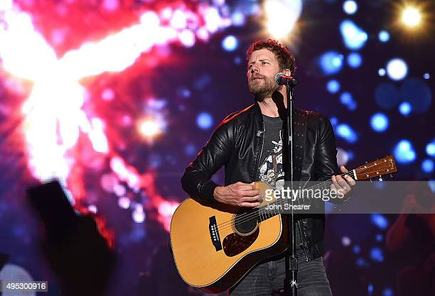 Musician Dierks Bentley performs at the 10th anniversary 'Miles Music' concert on November 1 2015 in Nashville Tennessee