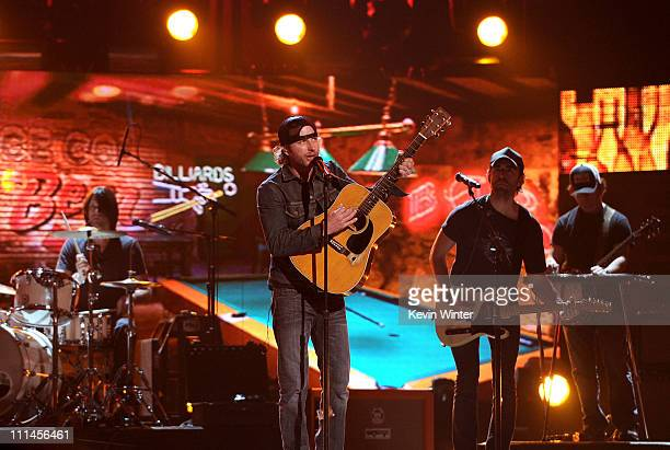 Musician Dierks Bentley performs during rehearsals for the 46th Annual Academy Of Country Music Awards held at the MGM Grand Garden Arena on April 2...