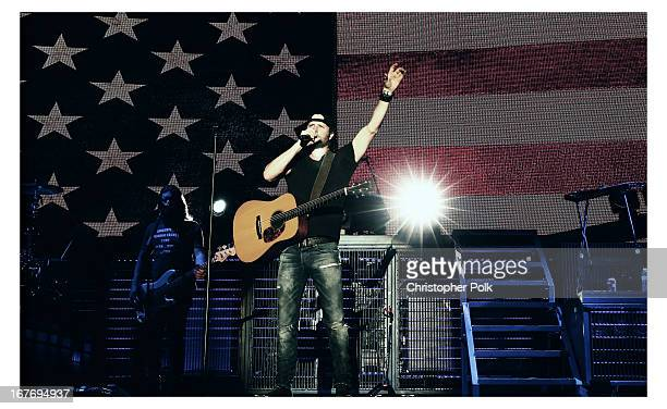 Musician Dierks Bentley performs onstage during 2013 Stagecoach California's Country Music Festival held at The Empire Polo Club on April 27 2013 in...