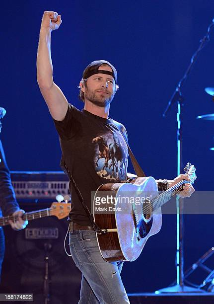 Musician Dierks Bentley performs onstage during the 2012 American Country Awards at the Mandalay Bay Events Center on December 10 2012 in Las Vegas...