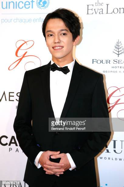Musician Dimash Kudaibergen attends the Global Gift the Eva Foundation Gala Photocall at Hotel George V on May 16 2017 in Paris France