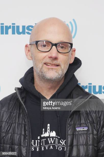 Musician DJ record producer singer songwriter Moby visits SiriusXM Studios on March 20 2018 in New York City