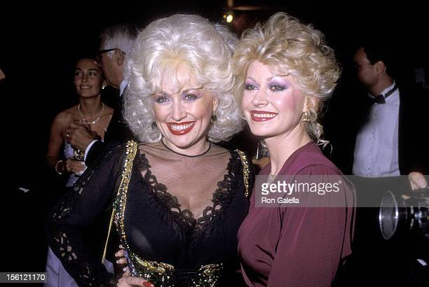 Musician Dolly Parton and sister Actress Rachel Dennison attend the 1983 Carousel of Hope Ball to Benefit the Barbara Davis Center for Childhood...