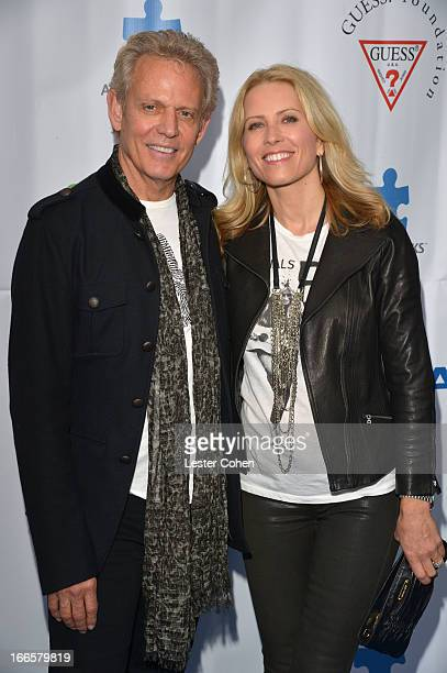 Musician Don Felder and Kathrin Nicholson arrive at Light Up The Blues Concert An Evening of Music To Benefit Autism Speaks at Club Nokia on April 13...