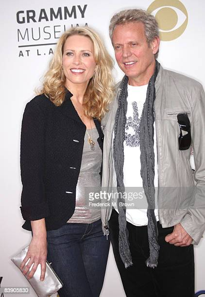 Musician Don Felder and Kathrin Nicholson arrive at the Grammy Nominations concert live held at the Nokia Theatre LA Live on December 3 2008 in Los...