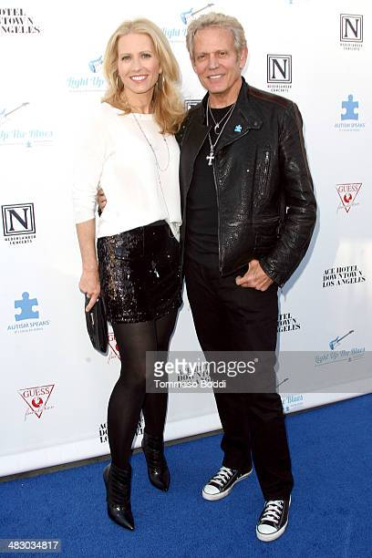 Musician Don Felder and Kathrin Nicholson attend the 2nd Light Up The Blues Concert benefiting Autism Speaks held at The Ace Hotel Theater on April 5...