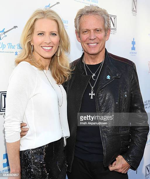 Musician Don Felder and Kathrin Nicholson attend the 2nd Light Up The Blues Concert An Evening Of Music To Benefit Autism Speaks at The Theatre At...