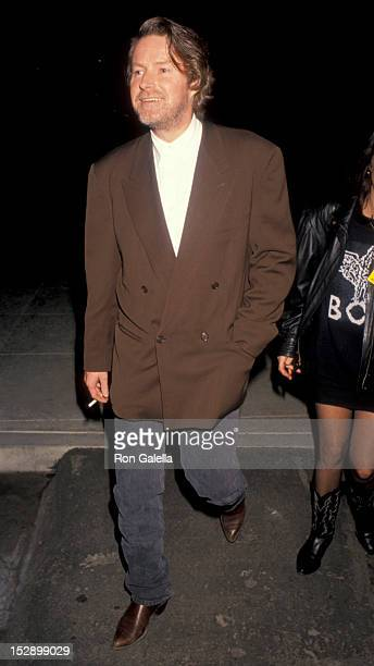 Musician Don Henley of The Eagles attending Eighth Annual RadioMusic Conference on January 31 1991 at the Musuem of Flight in Santa Monica California