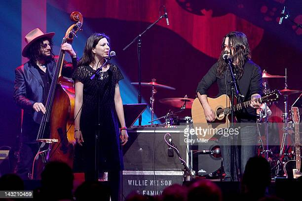 Musician Don Was vocalists Amy Nelson and Shooter Jennings perform during the We Walk The Line A Celebration Of The Music Of Johnny Cash show at ACL...