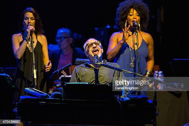 Musician Donal Fagen of Steely Dan performs on stage during theie Rockabye Gollie Angel Tour at Humphrey's Concerts By The Bay on April 19 2015 in...