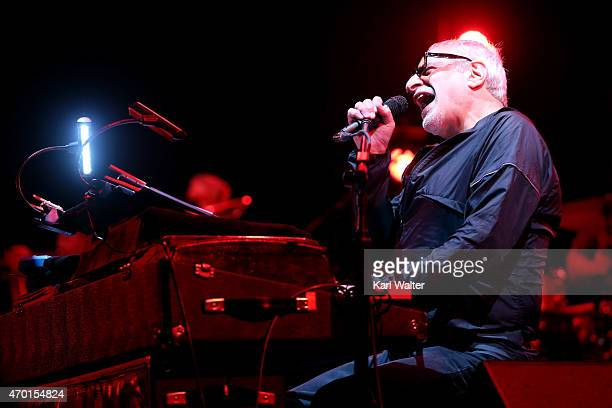 Musician Donald Fagen of Steely Dan performs onstage during day 1 of the 2015 Coachella Valley Music And Arts Festival at The Empire Polo Club on...