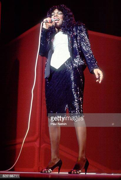 Musician Donna Summer performs Chicago Illinois July 12 1983