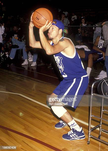 Musician Donnie Wahlberg attends MTV's First Annual Rock 'N Jock Basketball Game on September 15 1991 at Loyola Marymount University in Los Angeles...