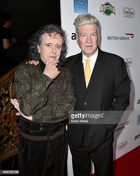 Musician Donovan and filmmaker David Lynch attend the David Lynch Foundation's DLF Live presents The Music Of David Lynch at The Theatre at Ace Hotel...