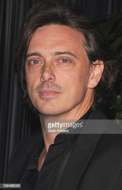 Musician Donovan Leitch arrives at the Chanel Charles Finch PreOscar Dinner Celebrating Fashion Film at Madeo Restaurant on February 26 2011 in Los...
