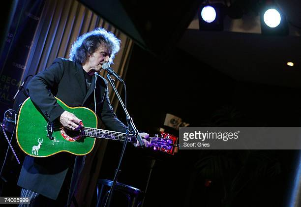 Musician Donovan performs onstage at the ASCAP Tribeca Music Lounge held at the Canal Room during the 2007 Tribeca Film Festival on May 3 2007 in New...