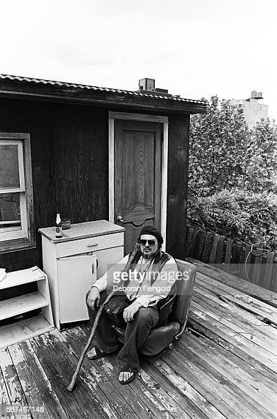 Musician Dr. John AKA Joh Mac Rebennack photogrpahed on his roof top for Musician in January 1982 in New York City, New York.