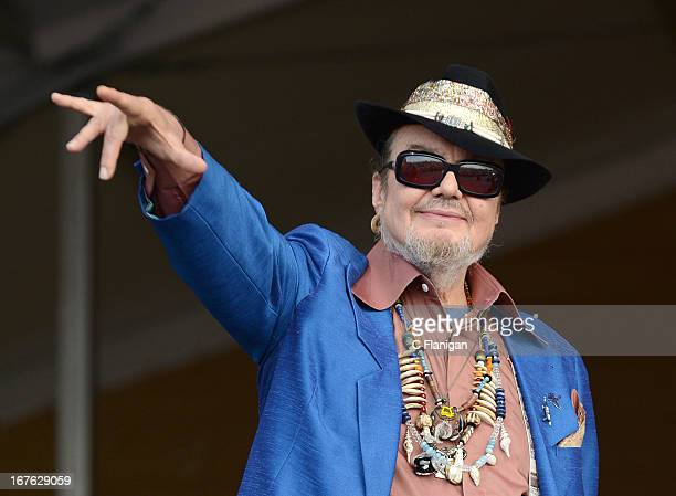 Musician Dr. John performs during the 2013 New Orleans Jazz and Heritage Festival at Fair Grounds Race Course on April 26, 2013 in New Orleans,...