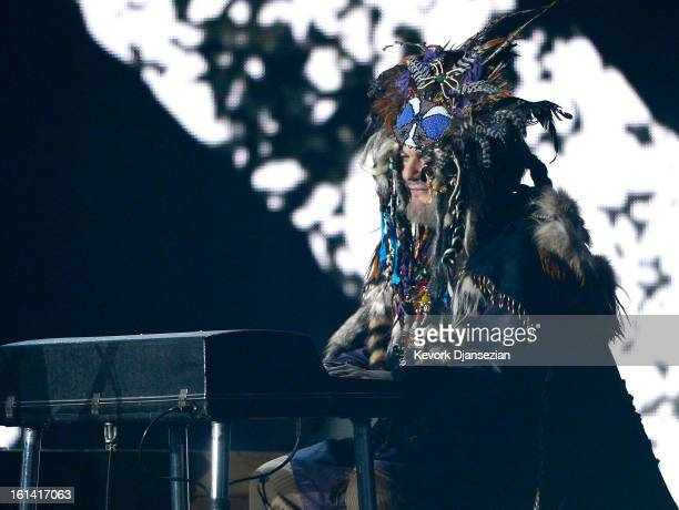 Musician Dr John performs onstage at the 55th Annual GRAMMY Awards at Staples Center on February 10 2013 in Los Angeles California