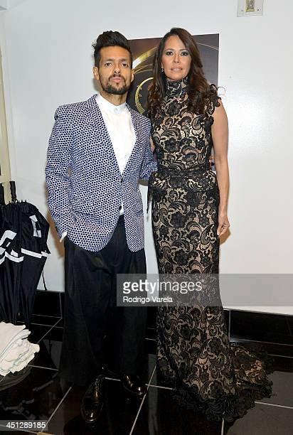 Musician Draco Rosa and actress Angela Alvarado attend The 14th Annual Latin GRAMMY Awards at the Mandalay Bay Events Center on November 21 2013 in...