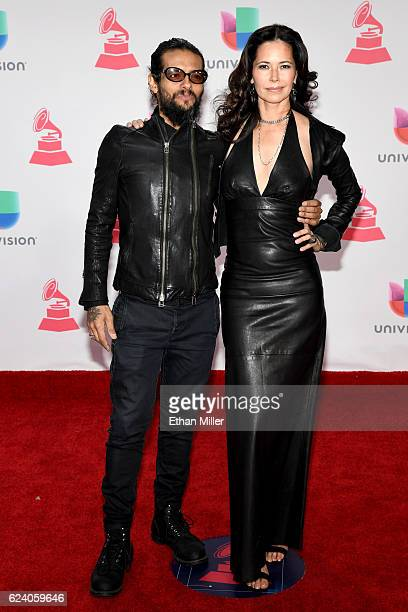 Musician Draco Rosa and actress Angela Alvarado attend The 17th Annual Latin Grammy Awards at TMobile Arena on November 17 2016 in Las Vegas Nevada