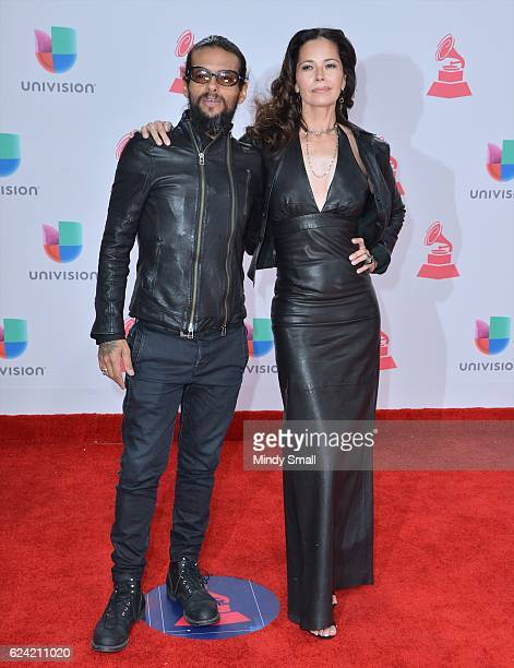 Musician Draco Rosa and actress Angela Alvarado attends the 17th Annual Latin Grammy Awards at TMobile Arena on November 17 2016 in Las Vegas Nevada
