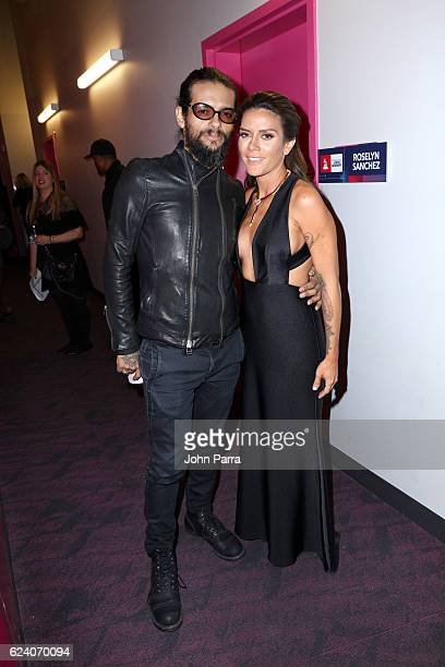 Musician Draco Rosa and Angela Alvarado attend The 17th Annual Latin Grammy Awards at TMobile Arena on November 17 2016 in Las Vegas Nevada