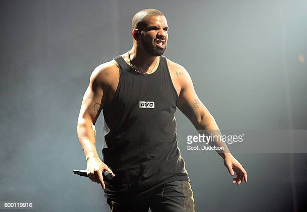 Musician Drake performs onstage at Staples Center on September 7 2016 in Los Angeles California