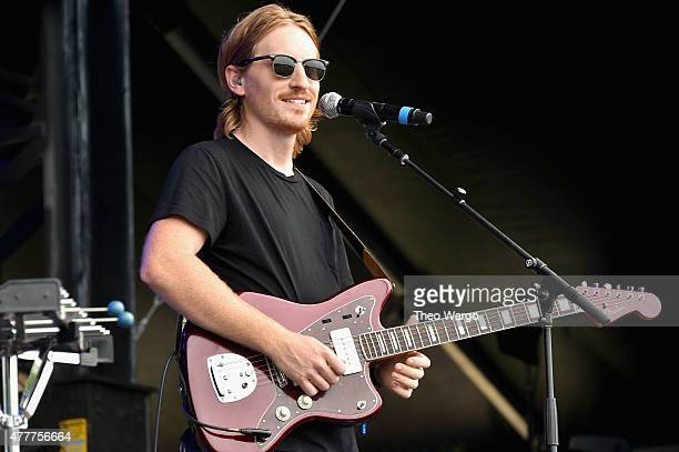 Musician Drew Buffington of Knox Hamilton performs onstage during day 2 of the Firefly Music Festival on June 19, 2015 in Dover, Delaware.