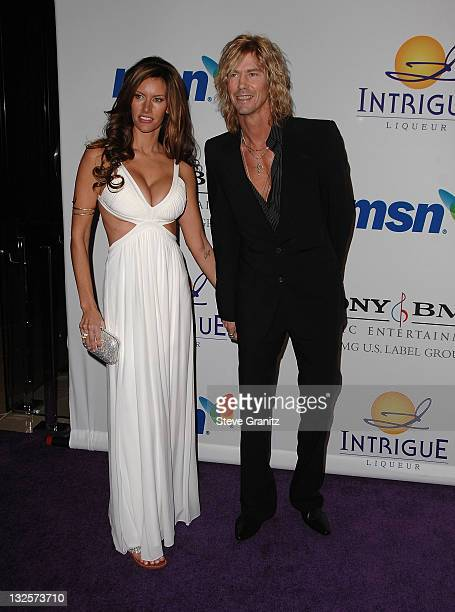 Musician Duff McKagan and guest attend the 2008 Clive Davis PreGRAMMY party at the Beverly Hilton Hotel on February 9 2008 in Los Angeles California