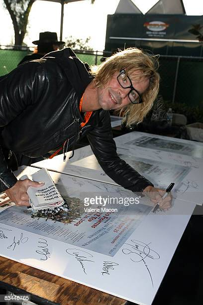 Musician Duff McKagan attends the 25th Annual Love Ride on October 26 2008 in Los Angeles California
