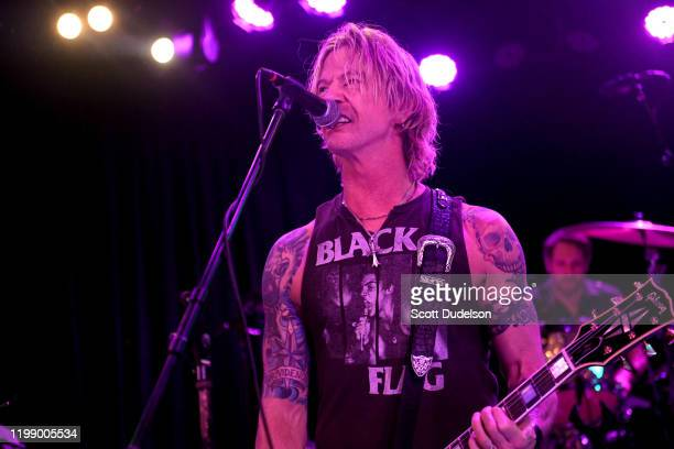 Musician Duff McKagan founding member of Guns N' Roses performs onstage during the Gates of the West concert celebrating the 40th Anniversary of The...