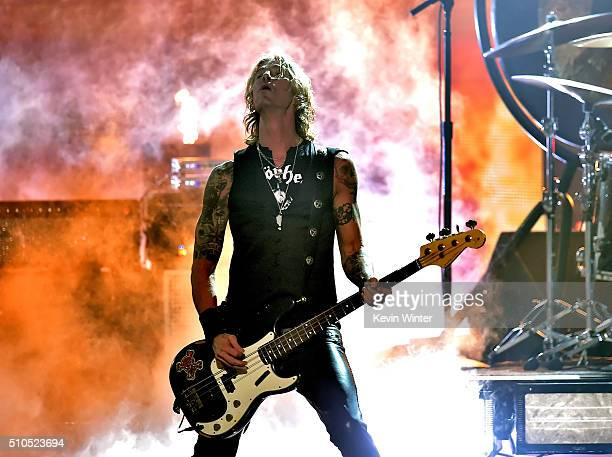 Musician Duff McKagan of Hollywood Vampires performs onstage during The 58th GRAMMY Awards at Staples Center on February 15 2016 in Los Angeles...