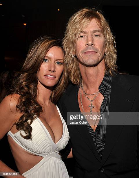 Musician Duff McKagan of Velvet Revolver and guest attend the 2008 Clive Davis PreGRAMMY party at the Beverly Hilton Hotel on February 9 2008 in Los...