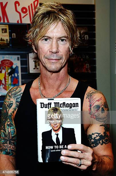 Musician Duff McKagan signs copies of his book How To Be A Man at Book Soup on May 21 2015 in West Hollywood California