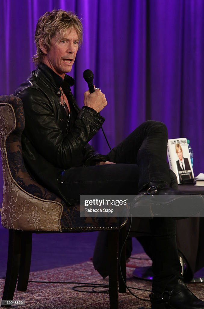 Musician Duff McKagan speaks onstage at A Conversation With Duff McKagan at The GRAMMY Museum on May 28, 2015 in Los Angeles, California.