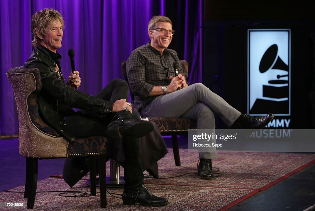 Musician Duff McKagan speaks with Executive Director of the GRAMMY Museum Bob Santelli at A Conversation With Duff McKagan at The GRAMMY Museum on May 28, 2015 in Los Angeles, California.