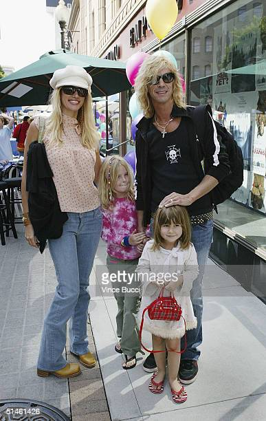 Musician Duff McKagen and family attend a benefit arts festival for the Westside Children's Center at Sony Pictures Studios on October 10, 2004 in...