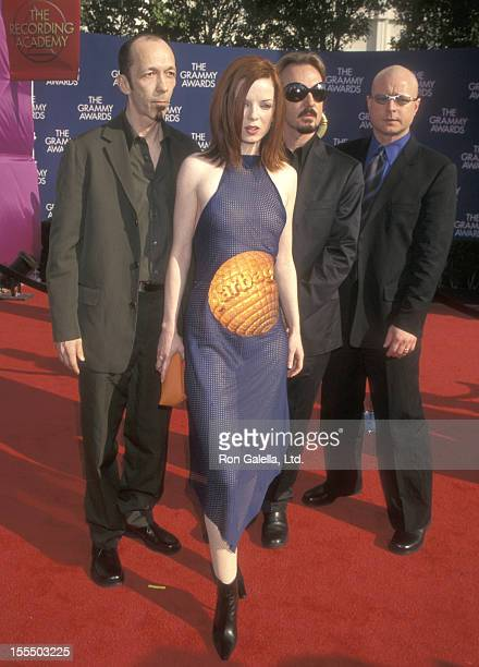 Musician Duke Erikson musician Shirley Manson musician Butch Vig and musician Steve Marker of the rock band Garbage attend the 41st Annual Grammy...