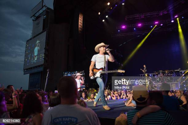 Musician Dustin Lynch performs at Northwell Health at Jones Beach Theater on August 3 2017 in Wantagh New York