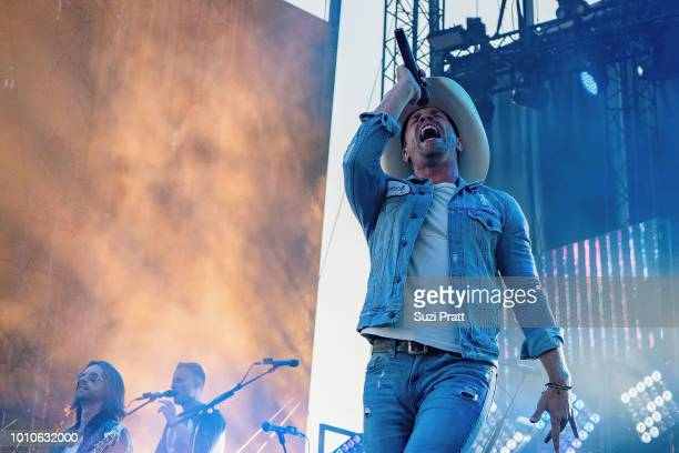Musician Dustin Lynch performs at Watershed Country Music Festival at Gorge Amphitheatre on August 3 2018 in George Washington