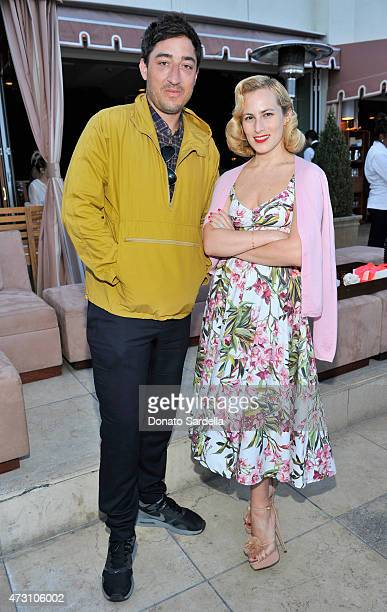 Musician Ed Droste and Designer Charlotte Olympia Dellal attend an intimate dinner hosted by Charlotte Olympia Dellal and Liz Goldwyn at The Sunset...