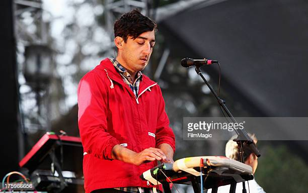 Musician Ed Droste of Grizzly Bear performs at the Twin Peaks Stage during day 2 of the 2013 Outside Lands Music and Arts Festival at Golden Gate...