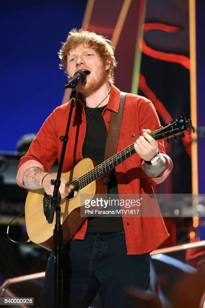 Musician Ed Sheeran performs during the 2017 MTV Video Music Awards at The Forum on August 27 2017 in Inglewood California