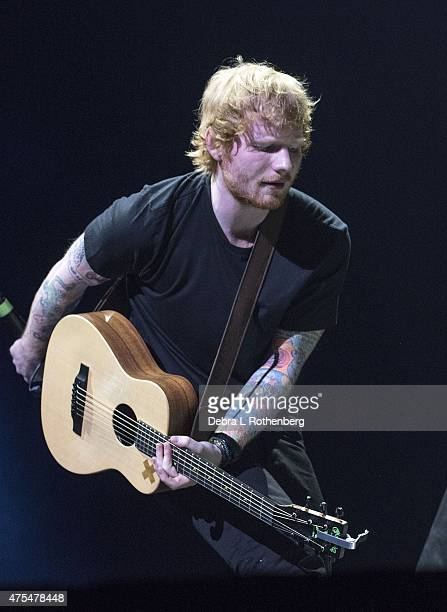 Musician Ed Sheeran performs live in concert at Barclays Center on May 31 2015 in New York City