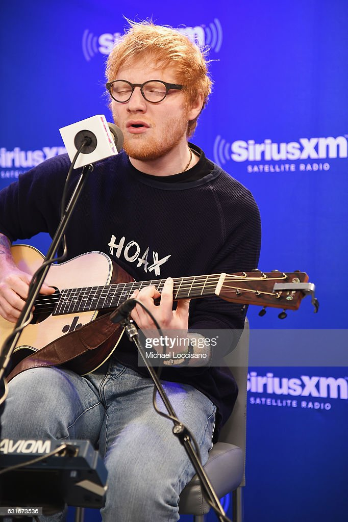 Musician Ed Sheeran visits SiriusXM Studios on January 13, 2017 in New York City.