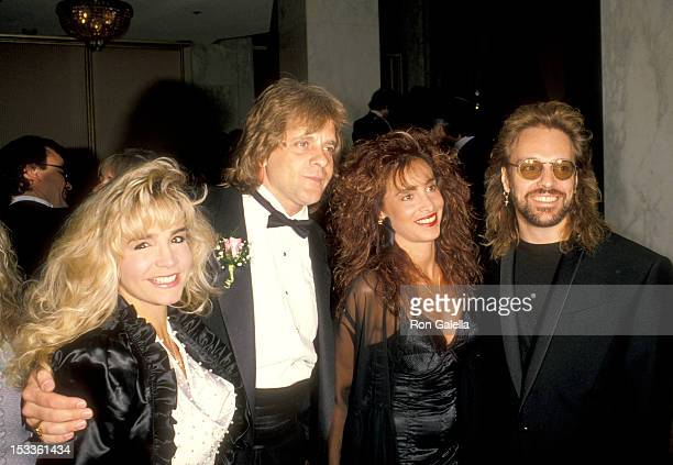 Musician Eddie Money and date and musician Peter Frampton and wife Barbara Gold attend the Seventh Annual American Society of Composers Authors and...